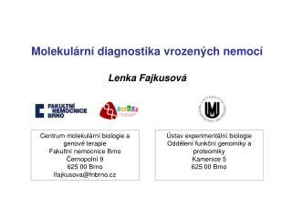 Molekulární diagnostika vrozených nemocí