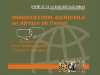 Emergence et production d�un  CD-Rom � Innovation agricole �