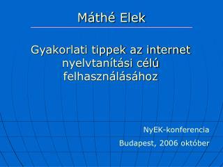 M�th� Elek