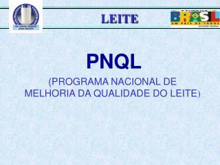 PNQL (PROGRAMA NACIONAL DE MELHORIA DA QUALIDADE DO LEITE )