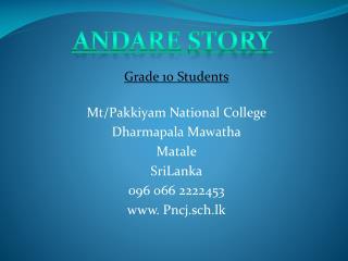 Grade 10 Students Mt/Pakkiyam National College Dharmapala Mawatha Matale SriLanka 096 066 2222453