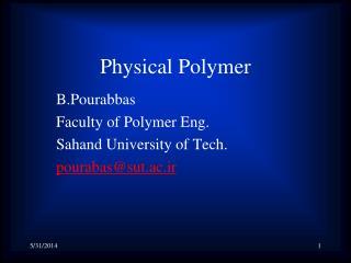 Physical Polymer
