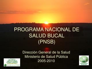 PROGRAMA NACIONAL DE SALUD BUCAL (PNSB)