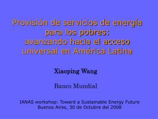 Xiaoping Wang Banco Mundial