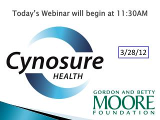 Today's Webinar will begin at 11:30AM
