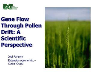 Gene Flow Through Pollen Drift: A Scientific Perspective