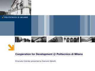 Cooperation for Development @ Politecnico di Milano