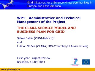 WP1 -  Administrative and Technical Management of the Project