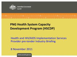 PNG Health System Capacity Development Program (HSCDP)