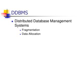 DDBMS