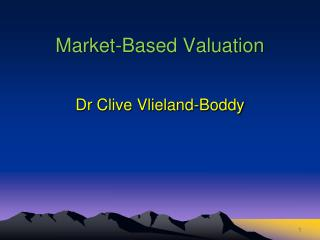 Market-Based Valuation