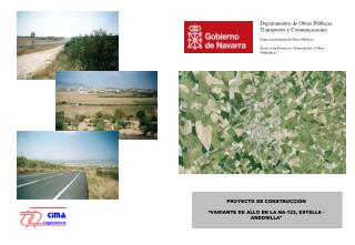 PROYECTO DE CONSTRUCCI�N � VARIANTE DE ALLO EN LA NA-122, ESTELLA - ANDOSILLA �