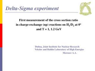 Delta-Sigma experiment