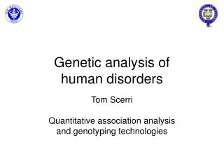 Genetic analysis of human disorders