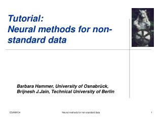 Tutorial: Neural methods for non-standard data