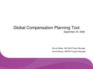 Global Compensation Planning Tool