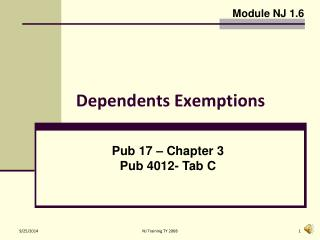 Dependents Exemptions