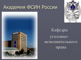 Академия ФСИН России