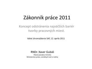 Zákonník práce 2011