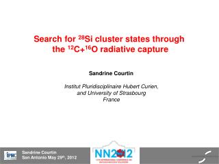 Search  for  28 Si cluster states  through the  12 C+ 16 O radiative capture
