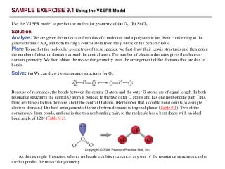 SAMPLE EXERCISE 9.1  Using the VSEPR Model