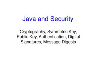 Java and Security