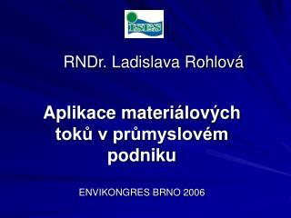 RNDr. Ladislava Rohlová