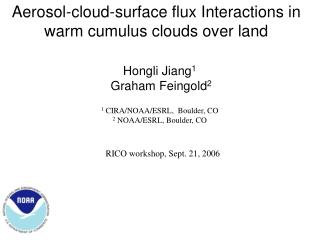 Aerosol-cloud-surface flux Interactions in warm cumulus clouds over land