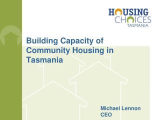 Building Capacity of Community Housing in Tasmania