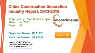 China Construction Decoration Market Size, Share 2013-2016