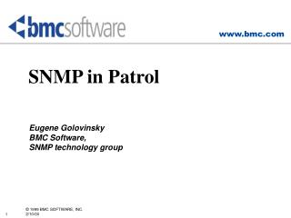 SNMP in Patrol