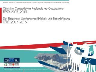 Programma operativo Competitività regionale ed occupazione  CRO