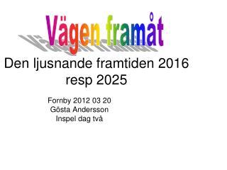 Den ljusnande framtiden 2016 resp 2025