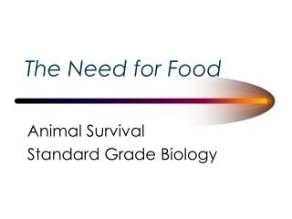 Standard Grade Biology