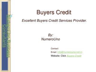 Buyers Credit - All About the Buyers Credit