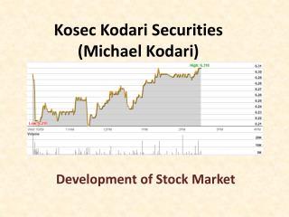 Michael Kodari (Kosec) - Development of Stock Market