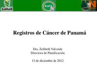 Registros de Cáncer de Panamá