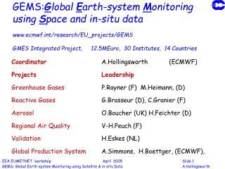 GEMS:Global Earth-system Monitoring using Space and in-situ data   ecmwft