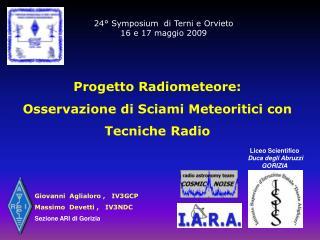 24° Symposium  di Terni e Orvieto 16 e 17 maggio 2009