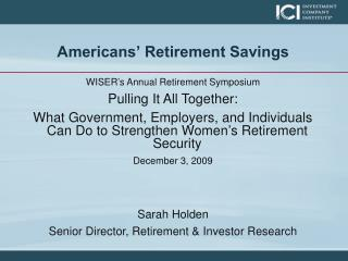 Americans' Retirement Savings
