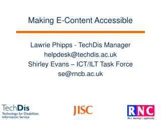 Making E-Content Accessible