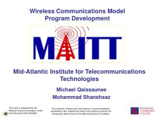 Wireless Communications Model Program Development