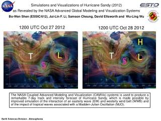 Simulations and Visualizations of Hurricane Sandy (2012)
