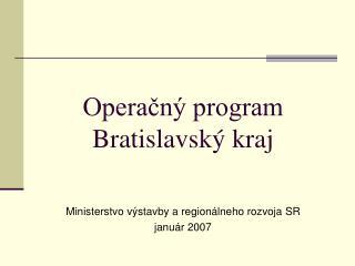 Operačný program  Bratislavský kraj