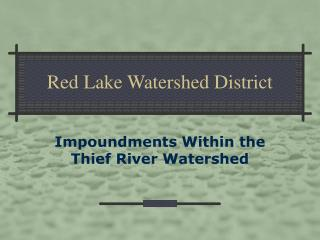 Red Lake Watershed District