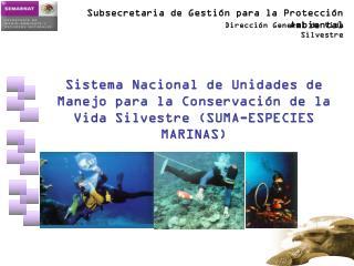 Sistema Nacional de Unidades de Manejo para la Conservación de la Vida Silvestre . (SUMA)