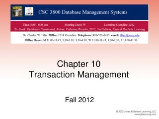 Chapter 10 Transaction Management