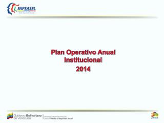 Plan Operativo Anual Institucional  2014