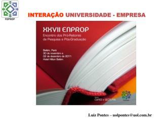 INTERA��O  UNIVERSIDADE - EMPRESA