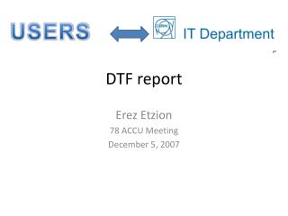 DTF report